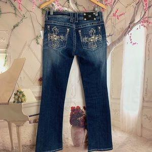 Miss Me Embellished Bootcut Blue Jeans size 28